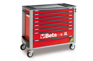 Beta C24SAXL/8-R Mobile Roller Cab With Eight Drawers (Red)